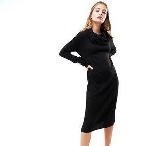 ASOS Petite 8 punk goth black knit cowl neck dress